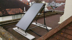 A Frame Solar Thermal Installation