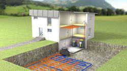 Ground Source Heat Pump Pipe Array
