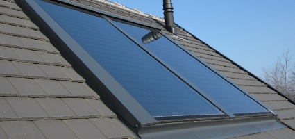 In Roof Solar Thermal Installation