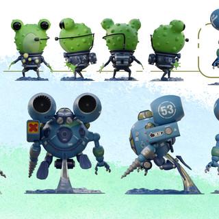 (•◉-◉•) M2KC Sub/mech + Frog naval officer