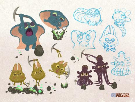 Cute-Talkie-Animals Concept Sheet