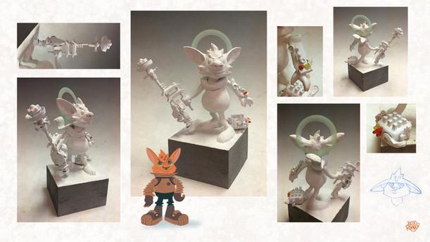 Macheeb maquette sculpture