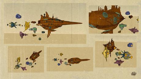 Polyuna ship models