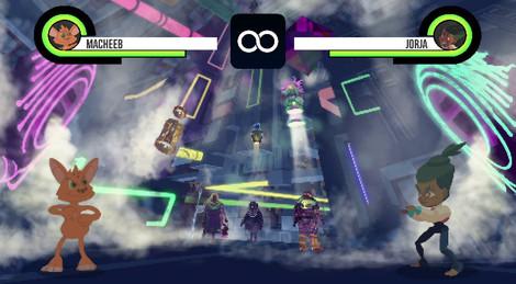 (┛◉Д◉)┛Fighting game background prototype.