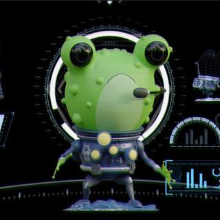 ( ̄ー ̄) M2KC Frog naval officer 3D character model