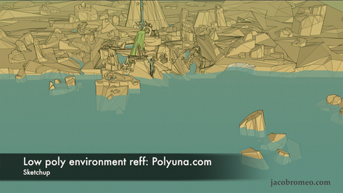 Polyuna low poly environment-design reference