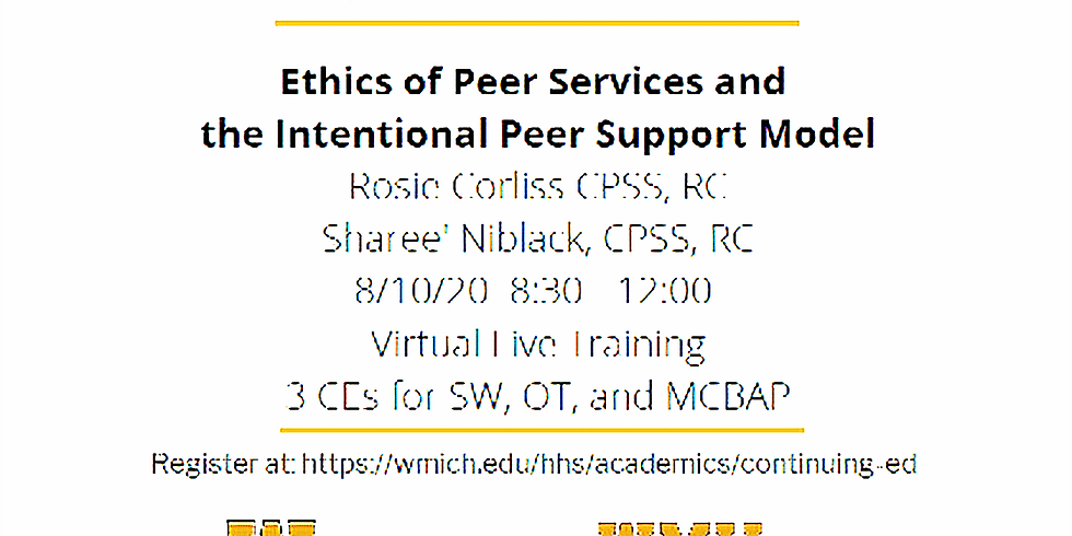 Ethics of Peer Services and Intentional Peer Support Model