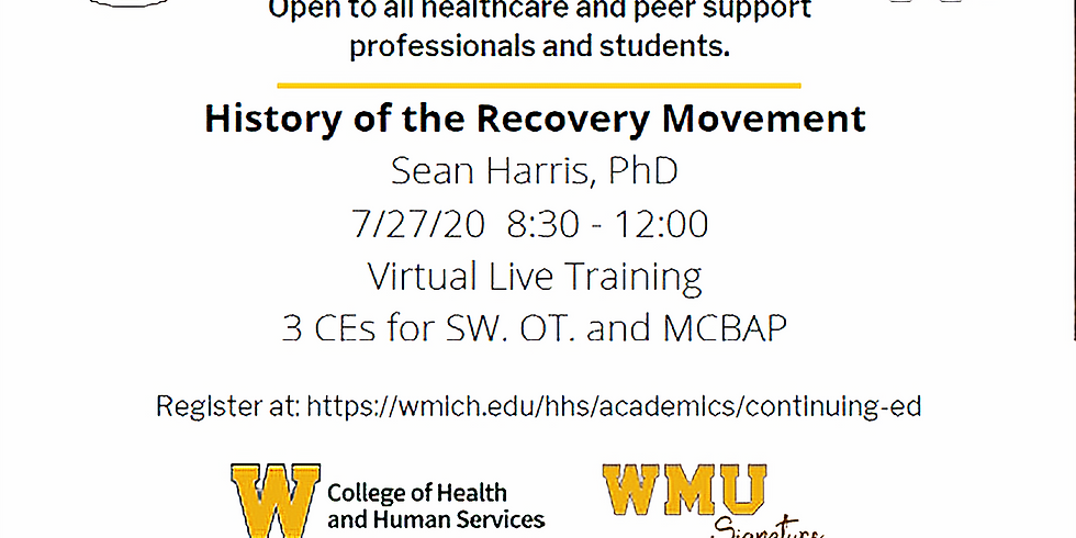 History of Recovery Movement