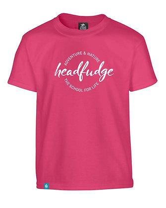 Kids Unisex 'Adventure & Nature' T-Shirt - Deep Pink (KD02)