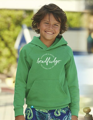 Kids Unisex 'Adventure & Nature' Hoodie - Green (KD01)