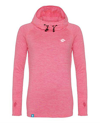 Sporty Cowl Hooded Top - Electric Pink (D45)