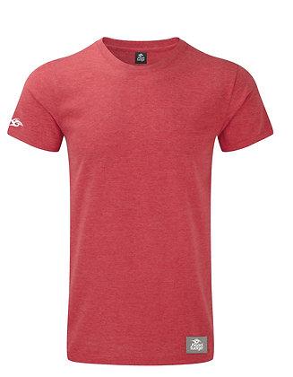 Men's Patch Marl T-shirt - Red Marl (D52)