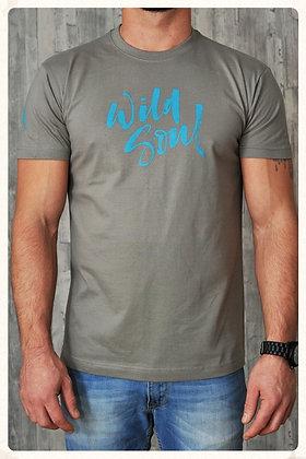 Men's 'Wild Soul' Crew Neck T-shirt - Zinc D31)