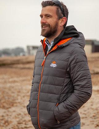 Men's Urban Snow Padded Jacket - Grey/Orange (D29)