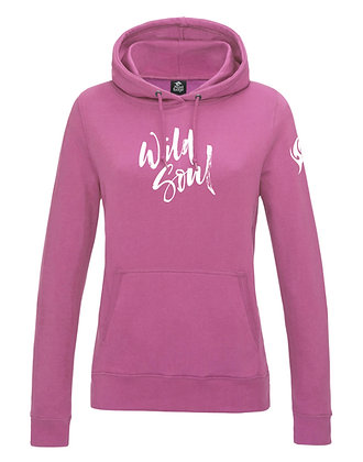 Women's 'Wild Soul' Hoodie - Pink (D32)