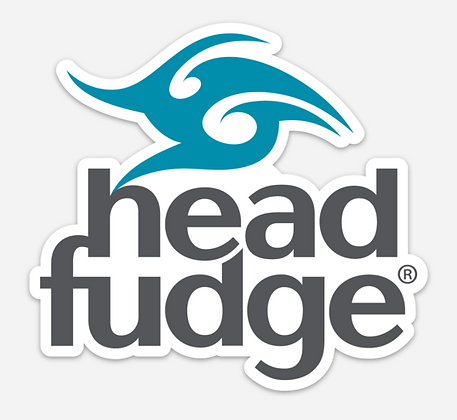 Headfudge Waterproof Vinyl Sticker - Teal & Charcoal (D46)