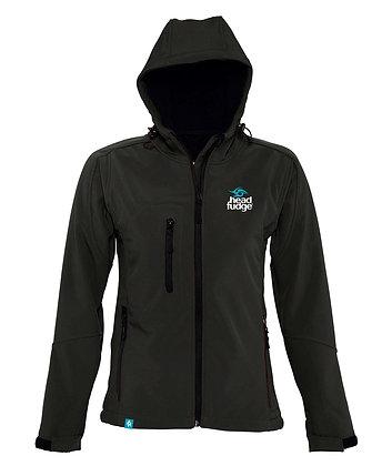 Women's Soft Shell Fleece Lined Jacket - Black (D37)