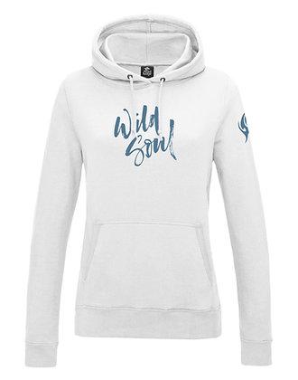 Women's 'Wild Soul' Hoodie - White (D32)