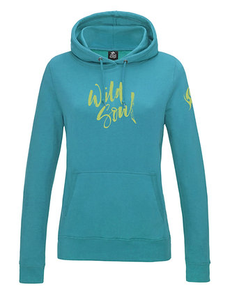 Women's 'Wild Soul' Hoodie - Turquoise (D32)