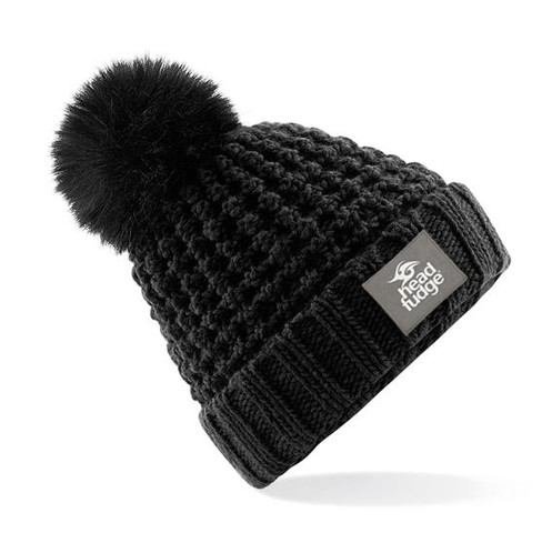 8177f7c641ed3 Chunky popcorn style knitted beanies with REMOVABLE faux fur bobble! Simply  unpop the bobble and pop back on as required! Super snug fleece lining  inside ...