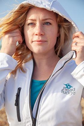 Women's Soft Shell Fleece Lined Jacket - White (D37)