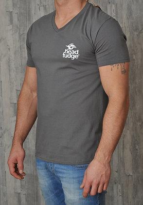 Men's V Neck T-shirt - Charcoal (D05)