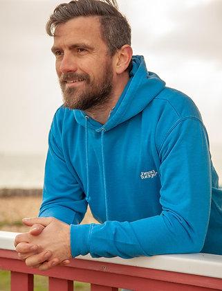 Men's Washed 'Russell' Hoodie - Ocean Blue (D44)