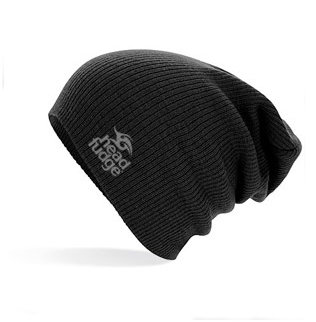 Knitted Slouch Beanie - Black (D17)