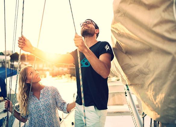 Surf Lifestyle clothing headfudge brand sailing sunset men's t-shirt