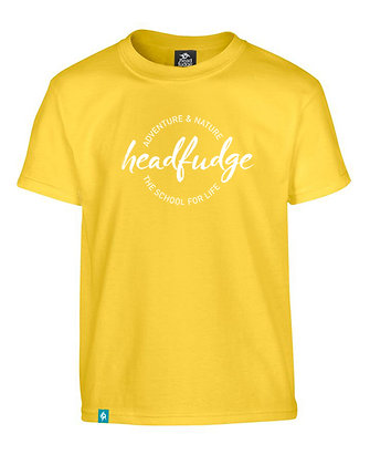 Kids Unisex 'Adventure & Nature' T-Shirt - Yellow (KD02)