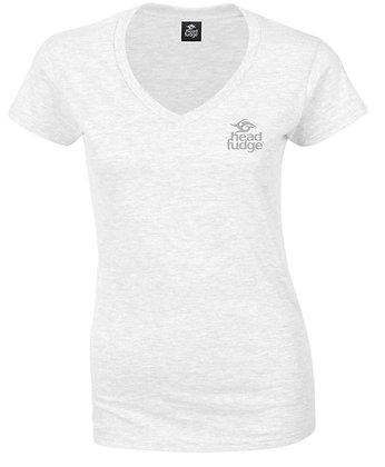 Women's Lightweight Wave V Neck T-shirt - White (D11)