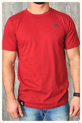 Men's ORGANIC Wave Logo Crew - Dark Red (D25)