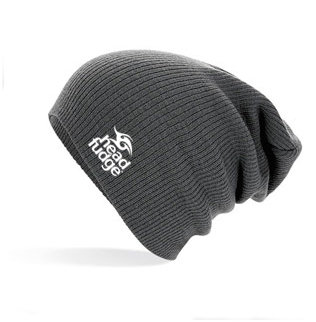 Knitted Slouch Beanie - Smoke Grey (D17)