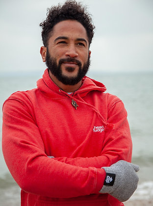 Men's Washed 'Russell' Hoodie - Red (D44)