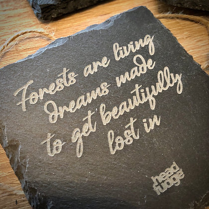 Headfudge 'Forest Quotes' Slate Coasters