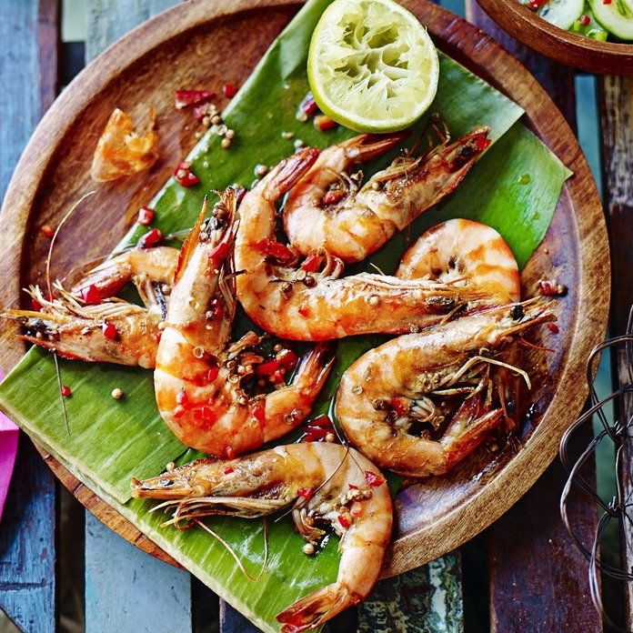 Curried King Prawns