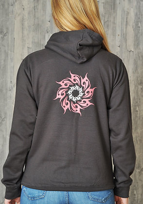 Women's 'Sunshine' Hoodie - Dark Grey (D23)