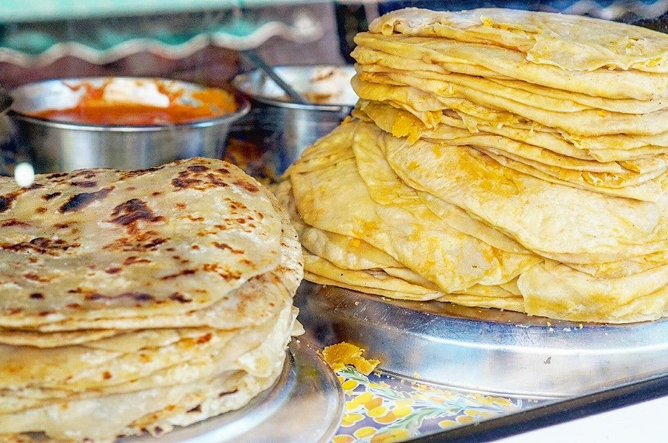 Fresh Roti and Dal Puri