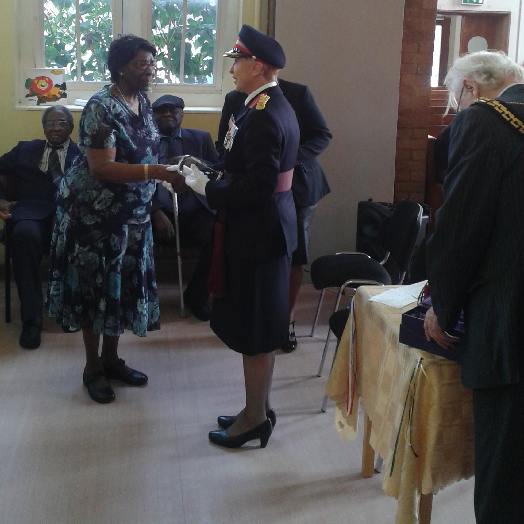 Receiving the Queens Award Sept 14