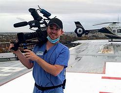 Austin Boylen operating camera for Discover Plus.