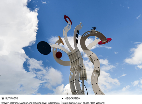 Jorge Blanco's Bravo! A Progressive dinner tour of Sarasota's public art