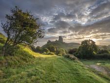 Castle sun burst