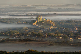 Corfe Castle in the mist 3 by Brian Terr