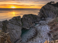 Stair Hole Sunset