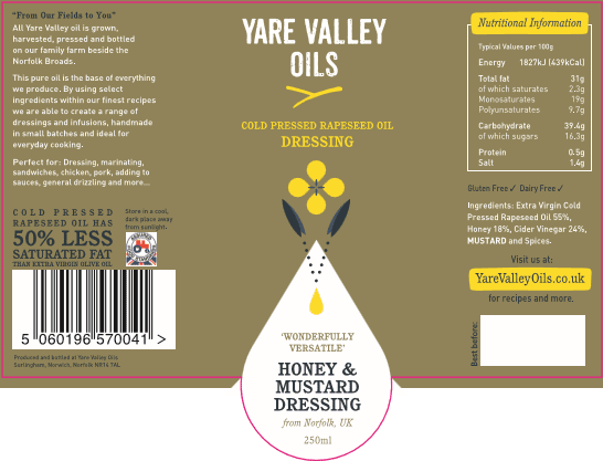 Yare Valley Honey & Mustard Dressing