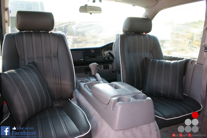 mazda bongo swivel seat re-upholstery.jp
