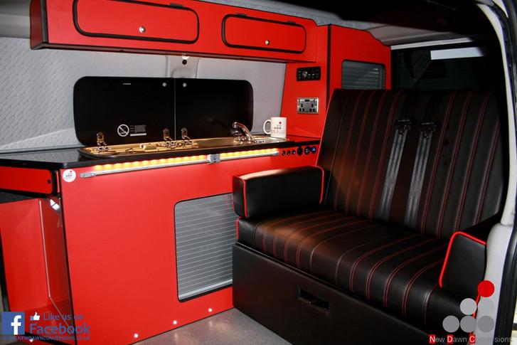 Mazda bongo camper in red