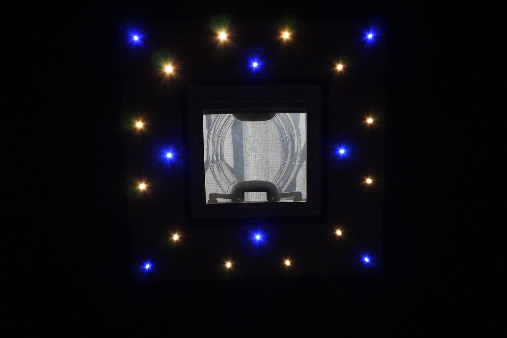 High top roof with roof vent fitted and LED lighting board