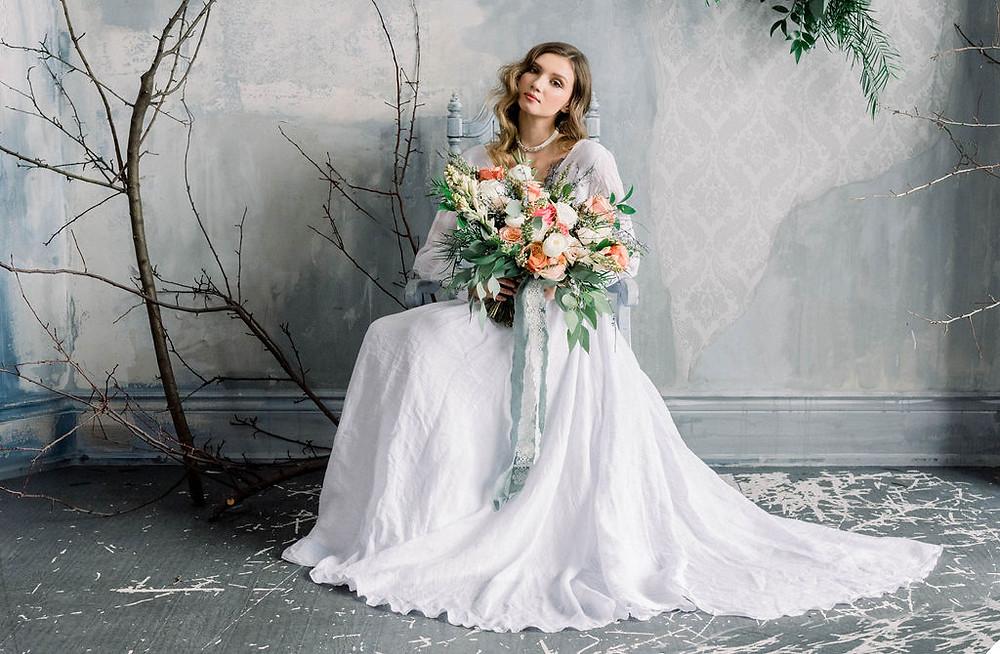Wedding Dress & Wedding Flowers Inspiration