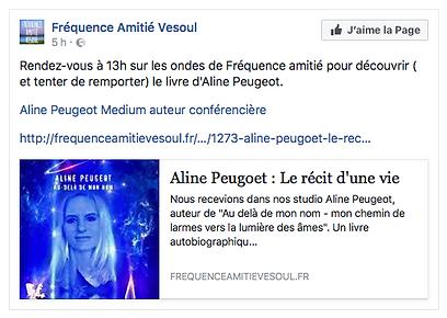 les médias en parlen Aline Peugeot  connue Auteur du chaos à l'éveil spirituel